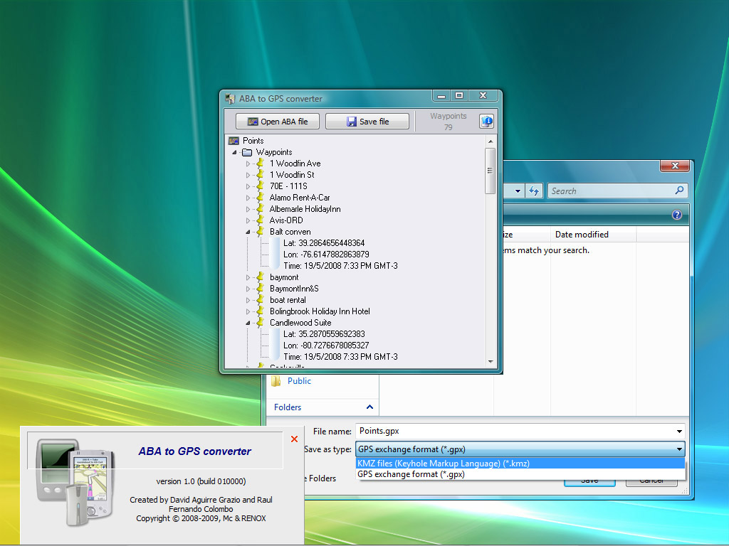 GPS converters and utilities - by David Jorge Aguirre Grazio and